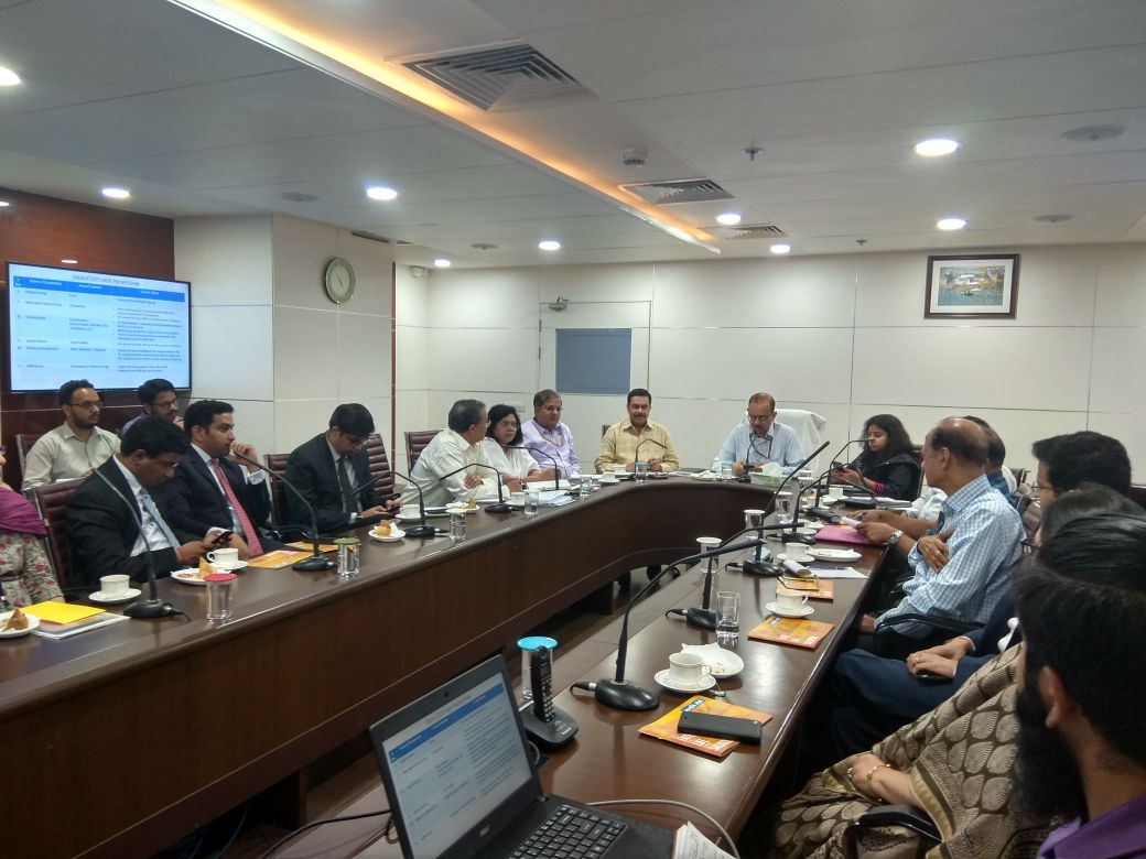 A meeting was held under the Chairmanship of DG, NMCG, Shri Rajiv Mishra with Corporate Groups, engaging them for taking up projects for river Ganga Rejuvenation. Corporates like Hinduja Group, Reliance Industries, Lohia Group, Indo Rama Group, Yes Bank etc attended the meeting.